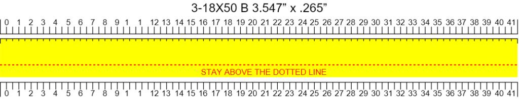 MTC Optics Viper Pro 3-18x50 Custom Tape Template