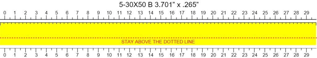 MTC Optics Viper 5-30x50 Custom Tape Template